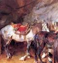 John Singer Sargent Arab Stable