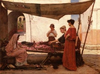 John William Waterhouse A Grecian Flower Market
