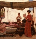 John William Waterhouse A Grecian Flower Market