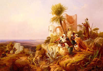 Niels Simonsen Arabs In A Hilltop Fort