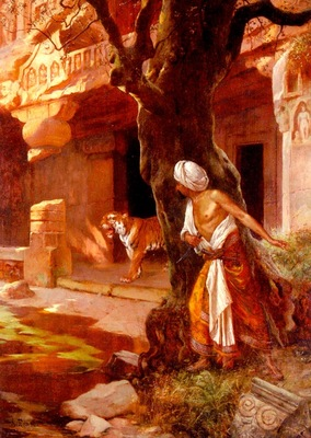 Rudolf Ernst Awaiting The Tiger