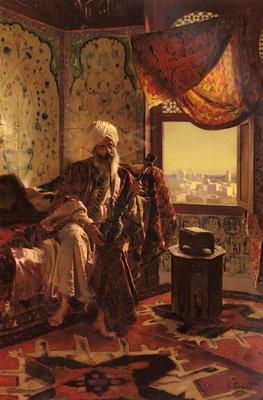 Rudolf Ernst Smoking The Hookah