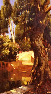 Rudolf Ernst The Staircase Under The Trees