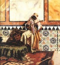 Rudolf Ernst Gnaoua In A North African Interior