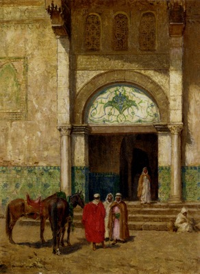 Thomas Millar Addison A Rest Outside A Mosque