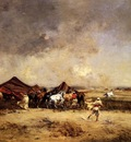 Victor Pierre Huguet Arab Encampment