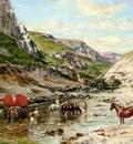 Victor Pierre Huguet Arabs Resting In A Gorge