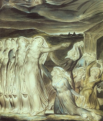 blake the parable of the wise and foolish virgins, 1822,