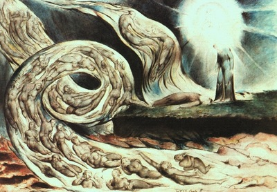 BLAKE WHIRLWIND OF LOVERS ILLUSTRATION TO DANTES INFERNO
