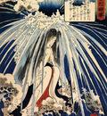 Hatsuhana doing penance under the Tonosawa waterfall