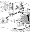samurai and tanuki kuniyoshi