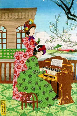 Japanese women Western Bustled fashions