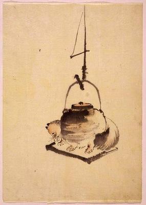 Hokusai tanuki tea kettle