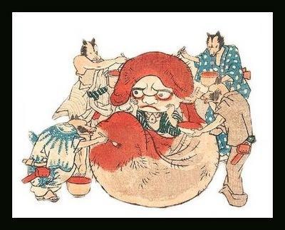 Kuniyoshi tanuki Daruma