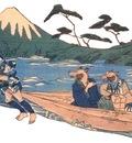 Kuniyoshi tanuki boat