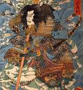 Shimamura DanjoTakanori riding the waves on the backs of large crabs