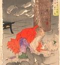 Tsukioka Yoshitoshi 36 Ghosts 25 Priest Raigo of Mii Temple