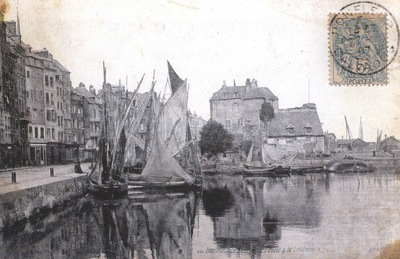 Honfleur, the Old Port and The Lieutenance Postcard