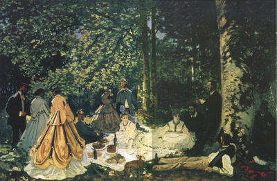 Luncheon on the Grass study [1866]