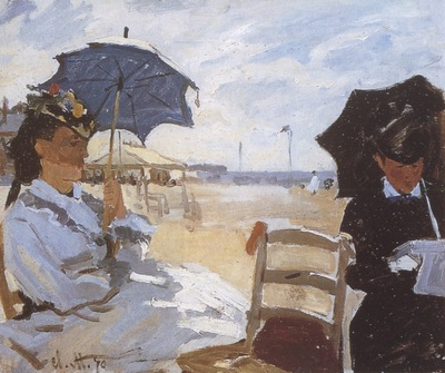The Beach at Trouville [1870]