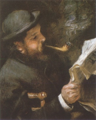 Auguste Renoir Claude Monet Reading [1872] [1873]