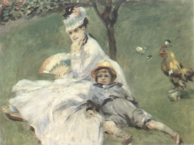 Auguste Renoir Camille and Jean Monet in the Garden at Argenteuil [1874]