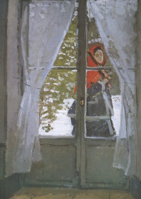 The Red Kerchief, Portrait of Mrs  Monet [1873]