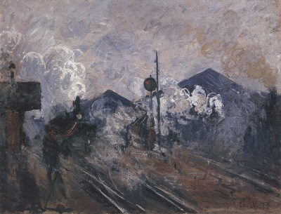 Tracks Coming out of Saint Lazare Station [1877]