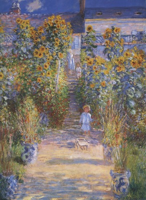 Monets Garden at Vetheuil [1881]