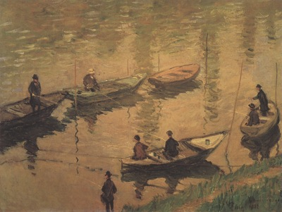 Anglers on the Seine at Poissy [1882]