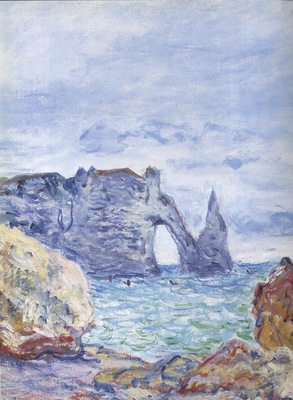Etretat, the Beach and the Port dAval[1884]