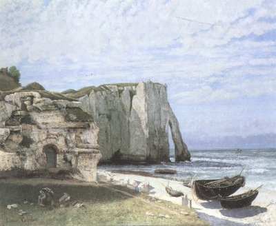 The Cliff at Etretat after a Storm [1870]