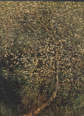 Apple Tree in Blossom by the Water [1880]