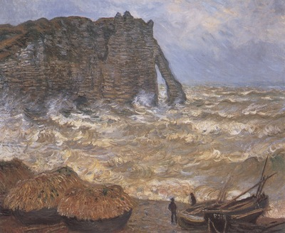 Etretat, Rough Seas [1883]