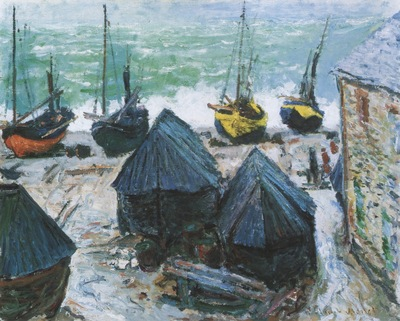 Boats on the Beach at Etretat [1885]