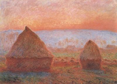 Grainstacks at Giverny, Sunset [1888 1889]