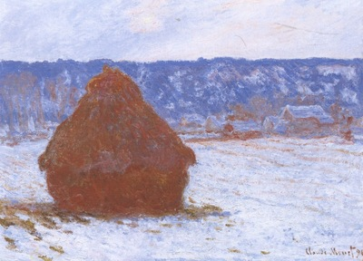 Grainstack in Overcast Weather, Snow Effect [1890 1891]