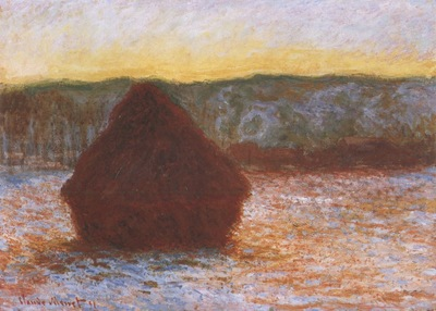 Grainstack, Thaw, Sunset [1890 1891]