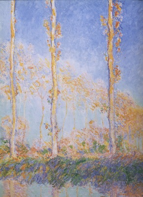 Three Poplar Trees in the Autumn [1891]