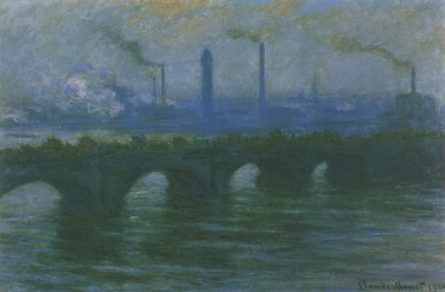 Charing Cross Bridge, Overcast Weather [1899 1901]