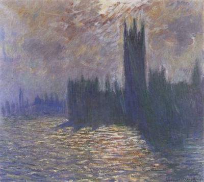 Houses of Parliament, Reflections on the Thames [1900 1901]