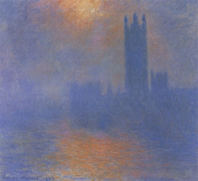 Houses of Parliament, Effects of Sunlight in the Fog [1900 1901]