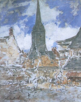 The Bell Tower of Saint Catherine at Honfleur [1917]