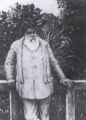 Albert Andre Monet in his Garden [1922]