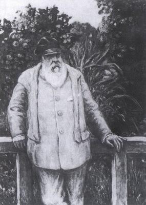 Albert Andre Monet in his Garden [1922]