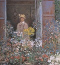 Camille Monet at the Window [1873]