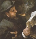 Auguste Renoir Claude Monet Reading [1872] [1873]