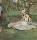 Edouard Manet The Monet Family in the Garden [1874]