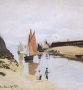 Entrance to the Port of Trouville [1870]
