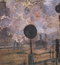 Exterior of Saint Lazare Station The Signal [1877]